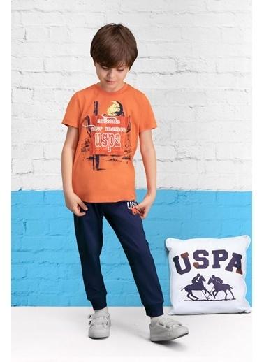 U.S. Polo Assn. U.S. Polo Assn Lisanslı Turkuaz Erkek Çocuk Pijama Takımı Pembe